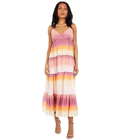 WAYF Olivia Tiered Maxi Slip Dress