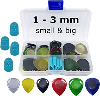 Guitar Pick Assortment for metal and speed fast playing, 1-3 mm, 60 pcs