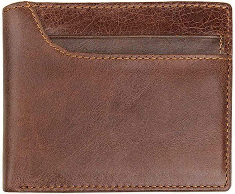 Wallet Fashion Genuine Leather Men Wallets with Multi Card Holder Purse (Color : Brown)