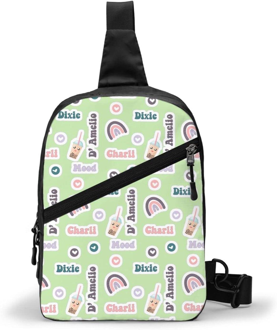 Charli Damelio Chest Department store Package Sling Multipurpo Large Bag Rapid rise Capacity