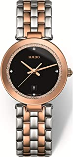 Rado Women's Black Dial Metal Band Watch - R48873173