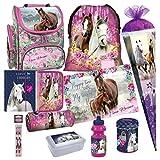 Einhorn Unicorn Pferd Pony Horse 14 Teile Set Schulranzen mit Sticker-von-Kids4shop Schultüte 85 cm RANZEN Tasche TORNISTER