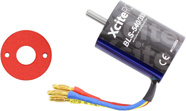 XciteRC 61300004 RC Auto Brushless Motor BLS-540 3930KV, blau