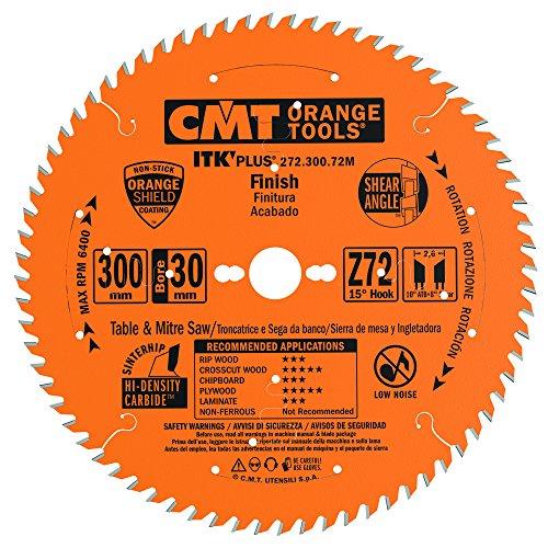 CMT Orange Tools 272.300.72M - Sierra circular (ultra itk) 300x2.4x30 z 72