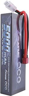 Gens ace B-50C-5000-2S1P-HARDCASE-24 - Batería de Lipo del paquete 7.4V 5000mah 2S 50C, Batería/Pila recargable
