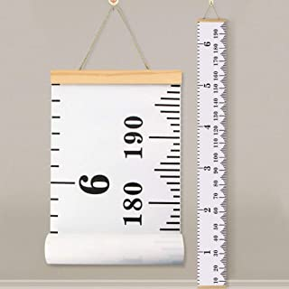 Baby Height Growth Chart Ruler KINBON Kids Roll-up Canvas...