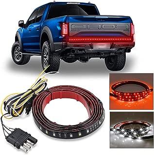 Carrep Universal Truck Tailgate Strip Light Bar Side Bed Light Strips 5 Function Waterproof Turn Signal, Parking, Reverse,Brake Lights (49 inches)