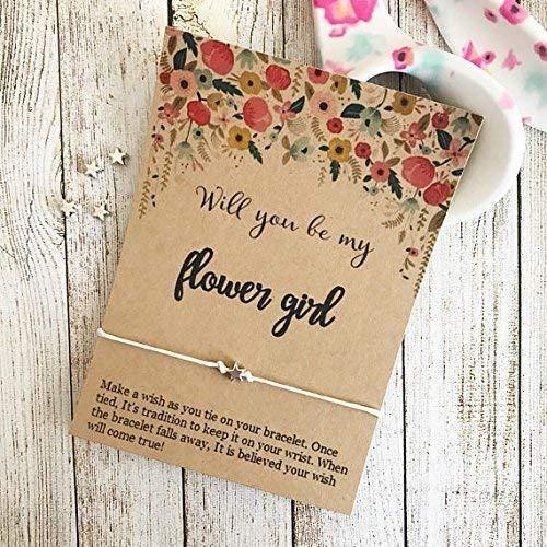 Will You Be My Flower Girl, Wish Bracelet, Flower Girl Gift, Wedding Party Gift, Custom Wedding Favors