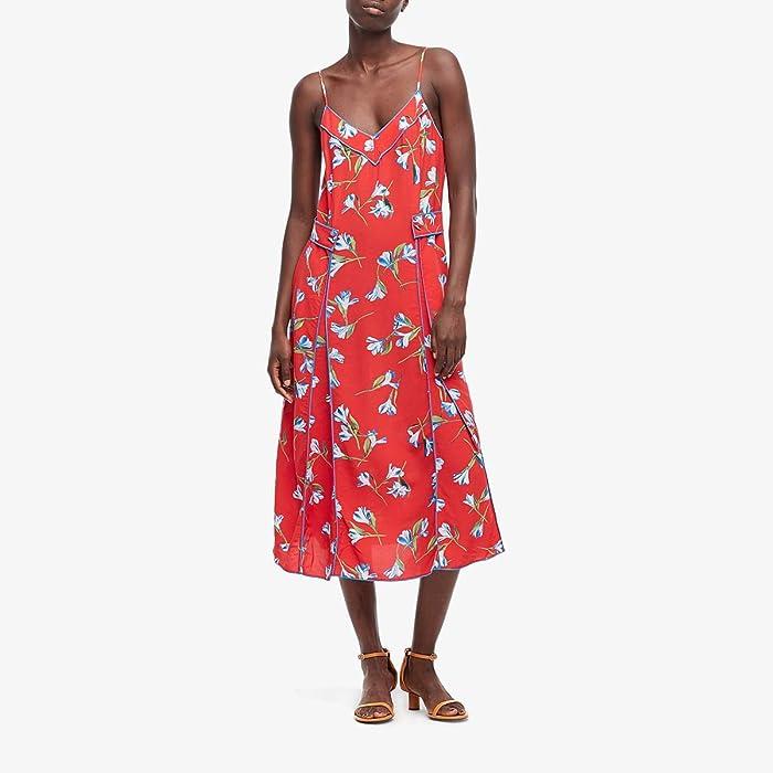 rag and bone  Hugo Tank Dress (Red Flower) Womens Clothing