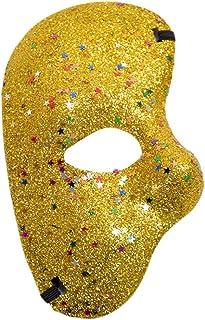 KIRALOVE Media máscara Facial - Fantasma de la ópera - Coloreada ...