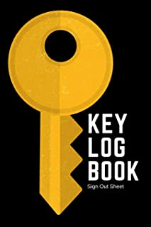 Key Log Book: Record In Out Key Register | Checkout System | Key Inventory | Brass Key Graphic Cover