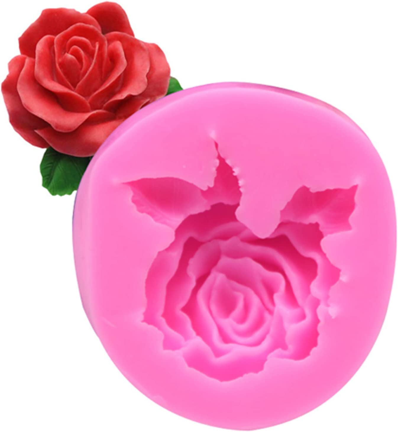3D Flower Silicone Soap Shape Rose New Shipping Free Shipping Mold gift Resin