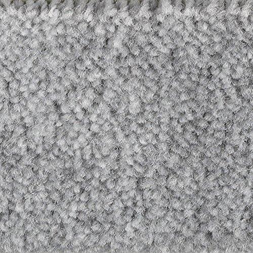 Teppichboden Auslegware Meterware Velour meliert | Grau | Größe: 2,5 x 4 m | Verschiedene Längen verfügbar