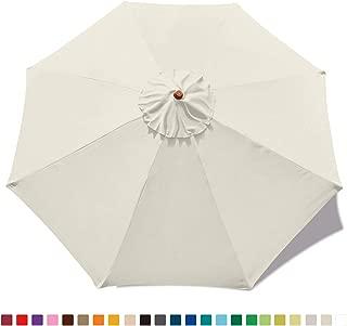 ABCCANOPY 9ft Outdoor Umbrella Replacement Top Patio Umbrella Market Umbrella Replacement Canopy with 8 Ribs(Light Beige)