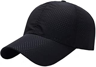 Ukerdo Baseball Caps Adjustable Fitted Running Sports Quick Drying Sun Hat Cap Men
