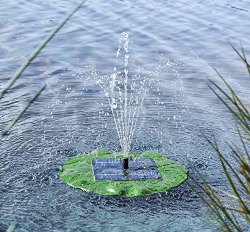 Solarbetriebener Springbrunnen für Gartenteiche