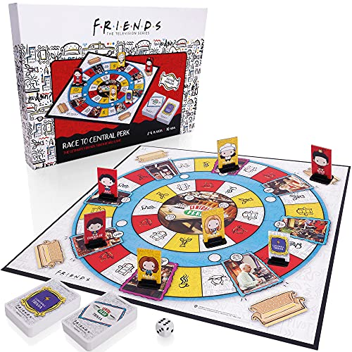 Friends TV Show Trivia Family Board Game - Race To Central Perk - Official...