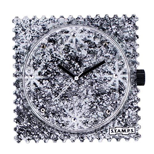 Stamps - Reloj de pulsera con diseño de estrellas brillantes con cristales de Swarovski