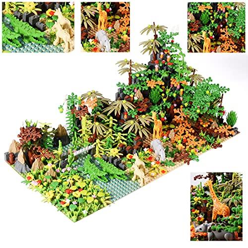 YOU339 Bloque de construcción de la selva tropical, 983 piezas Tropical Rainforest Scene Brick Pequeñas piedras de partículas, juguete de construcción para Lego