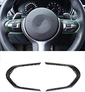 Carbon Fiber Car Styling ABS Chrome Steering Wheel Decoration Frame Cover Trim for BMW M3 M4 M5 1 3 series F52 F30 X 5M