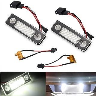 Polarlander 2Pcs License Number Plate Light Lamp 18-LED No Error White 13.5V 7000K For Skoda/Octavia/Roomster/5J