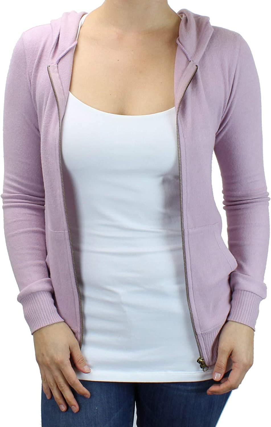 Cute Comfy Fitted Lounge Hoodie Ms Lovely Womens Ultra Soft Zip-Up Hooded Sweatshirt