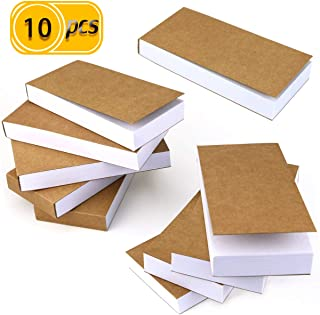 UPlama 10PACK Kraft Cover Blank Flipbooks for Animation, Sketching and Cartoon Creation,2.8