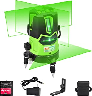 ML&SL マルチライン グリーン ビーム レーザー レベル 自動 自己平準化 レーザー 4 垂直 と 1 水平 ライン オン ダウン プラム ドット付 360 回転 ベース チルト と アウトドア モード 磁気 サポート 付属 グリーン
