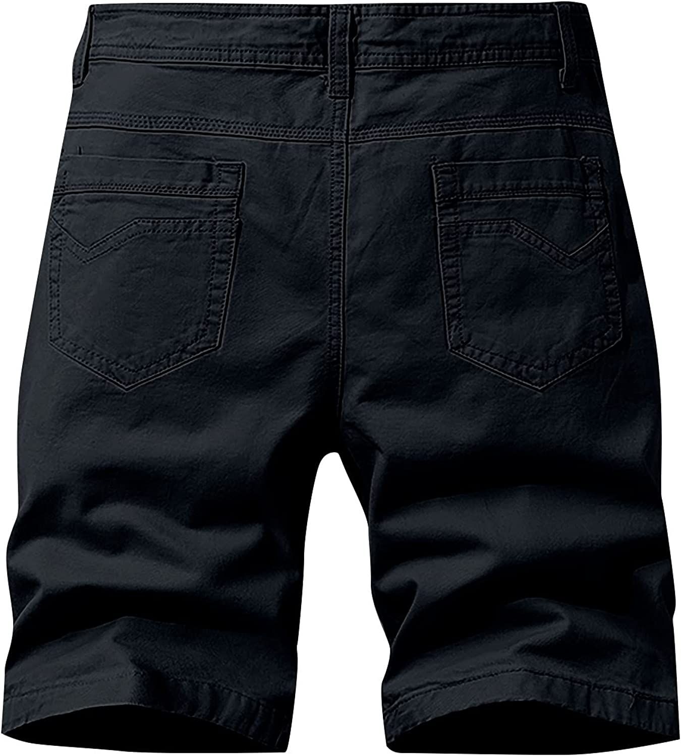 ZCAITIANYA Men's Cargo Shorts Outdoor Casual Solid Lightweight Workout Hiking Relaxed Fit Stretch Summer with Zipper Pockets