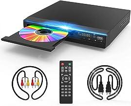 دستگاه پخش DVD Jinhoo برای تلویزیون ، پخش کننده دیسک دیسک دی وی دی رایگان منطقه ای با خروجی HDMI و AV (شامل کابل HDMI و AV) ، پشتیبانی از HD1080P ، داخلی PAL / NTSC ، پورت کواکسیال ، ورودی USB و کنترل از راه دور