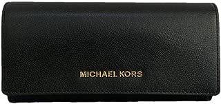 Michael Kors Jet Set Travel Large Carryall Leather Wallet - Black