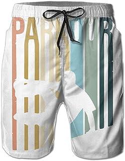 Parkour Men Swun Trunks Ropa de Playa de Secado rápido Deportes Correr Swim Board Pantalones Cortos Forro de Malla M-XXL