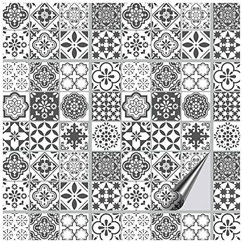 FoLIESEN Graz Design - Adesivo per piastrelle, per bagno, motivo: Azulejo Lisbona, 16 piastrelle adesive, 20 x 25 cm