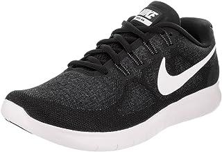 78db36980 Nike Women s Free RN 2017 Running Shoe Black White Dark Grey Anthracite Size