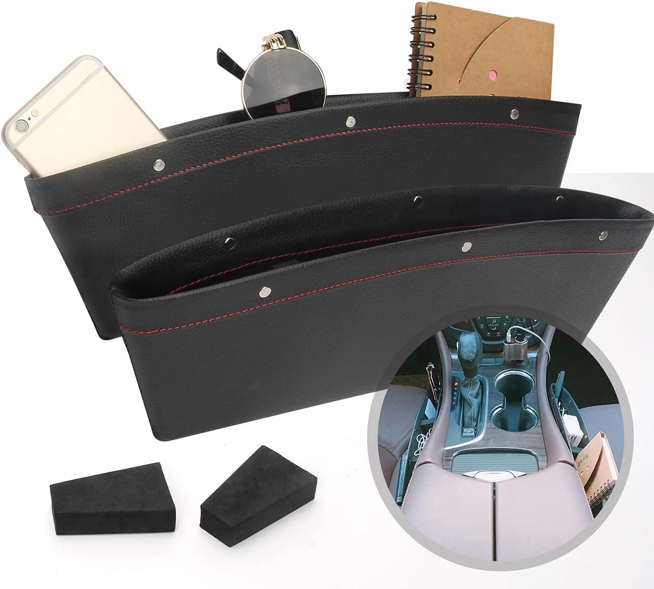 Coitak Max 52% OFF 2 Selling PCS Car Seat Gap Full Leather Co Organizer PU