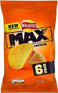 Walkers Max Paprika Crisps 6x27g