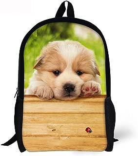 Fresh Animal School Bag for Girls Boys Black Dog Backpack Durable Travel Daypack