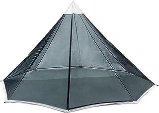 OneTigris   Svart Orca Chimney Tipp-tält med spishål, 2 personer, tält för vandring camping utomhus dubbelt lager, vattent...