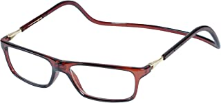 Magnetic Reading Glasses Plastic 2.0 Brown