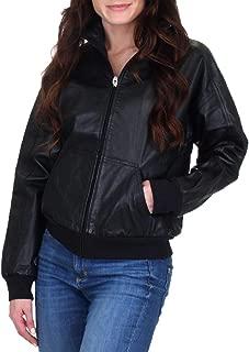 Juicy Couture Women's Genuine Leather Zip Up Jacket