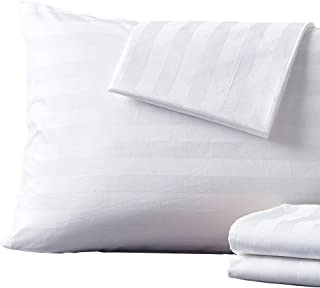 Shunjie.Home 4-Pack 100% Cotton Pillow Protector, 400 Thread Count Zippered Style Pillowcases Cover Dust Resistant White -...
