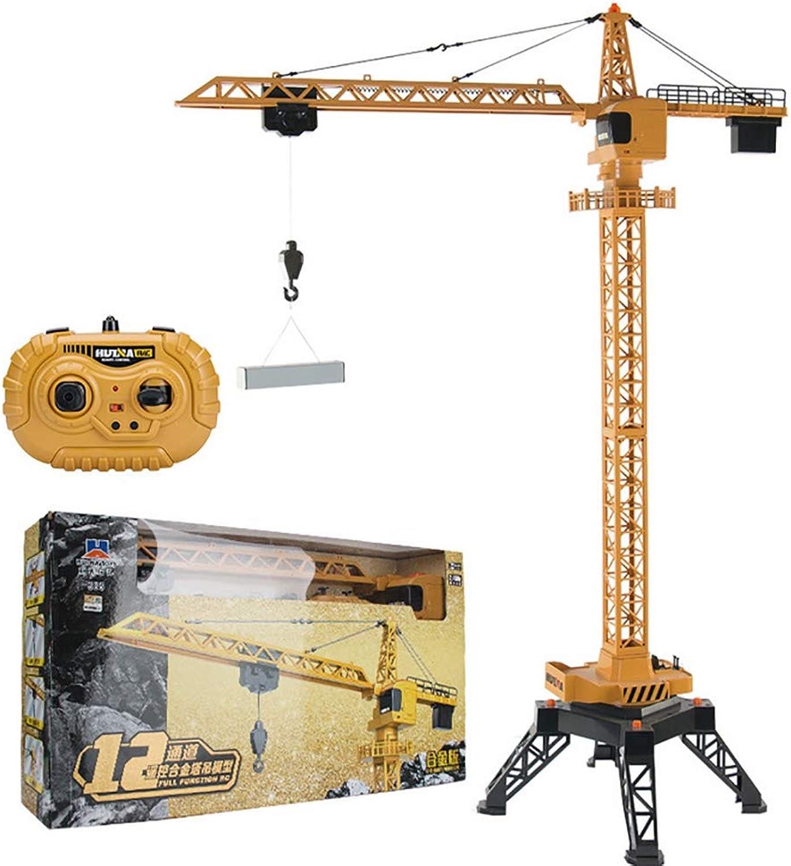 ventas en linea TTGE TTGE TTGE Control Remoto Eléctrico Grande Grúa 125 cm aleación Alta simulación Funcional Completo Grua de Torre Juguetes para Niños, Amarillo  despacho de tienda