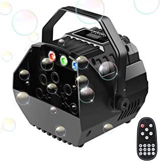 Easife Bubble Machine Bubble Blower for Kids Party 2019 New Portable Automatic Bubble Maker with LED Lights&Operation Panel Wireless Remote Control Powered by Plug-in or Batteries Outdoor/Indoor Use