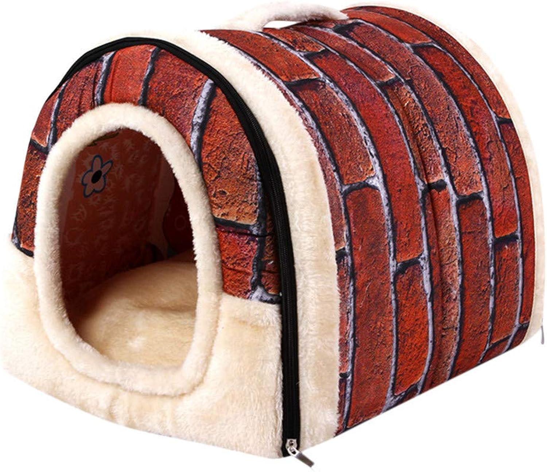Cimaybeauty Pet Dog Cat Bed House Warm Soft Mat Bedding Igloo Basket Kennel Washable Snug