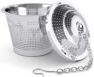 Schefs 11 Premium Infuser-Stainless Steel-Single Cup-Perfect Strainer for Loose Leaf Tea, Small