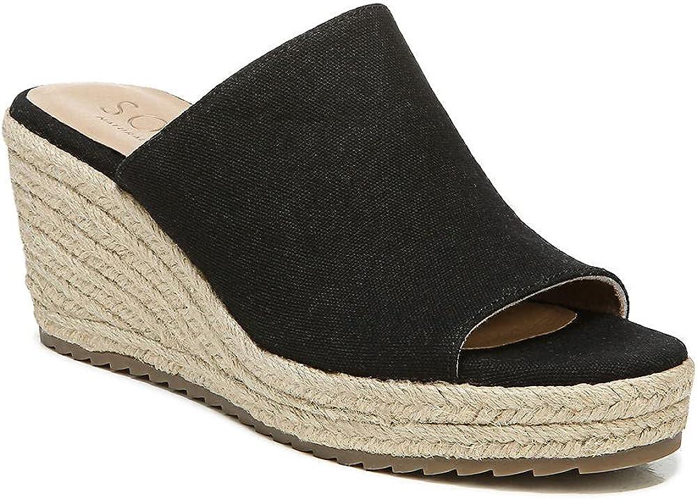 SOUL Naturalizer Women's Oodles Slide Sandal, Black, 7