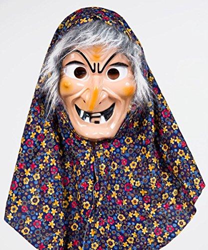 Festartikel Müller Kostüm Zubehör Maske Hexe Hexenmaske Kopftuch Haar Karneval Fasching