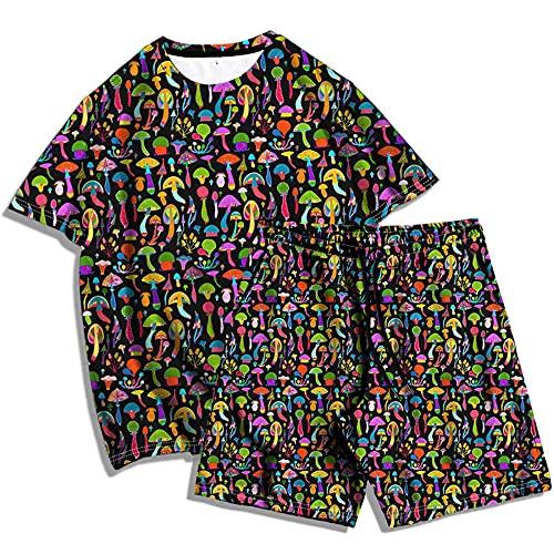 YaNanHome T-Shirt Camiseta Informal para Hombre Algodón Largos Jogging Pantalón Deportivos con Bolsillos para Yoga Fitness Jogger Correr Casual/D/XXXXL
