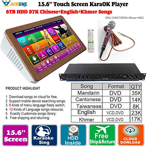 Find Discount 6TB HDD,97K Chinese DVD +English DVD +Khmer/Cambodian VCD,DVD Songs,15.6'' Touch Scree...