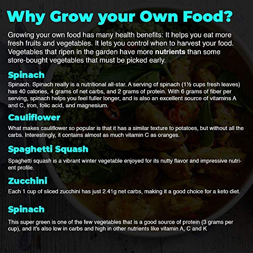 Keto Grow Kit Keto Garden Diet Grow Kit - Plant Your Own Keto Friendly Low Carb Meals Spinach, Kale, Zucchini, Grow Your Own Keto Meals 2